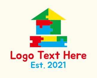 Preschool - Preschool Block House logo design