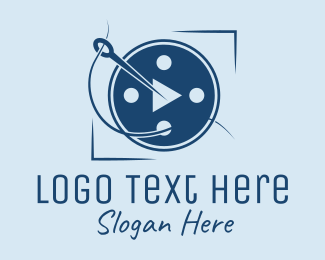 Thread - Tailor Sewing Needle  logo design
