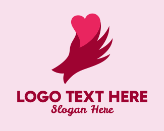 Dating Forum - Hand Holding Heart logo design