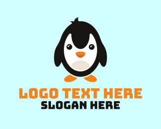 Mascot - Cute Penguin Mascot logo design