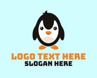Ski - Cute Penguin Mascot logo design
