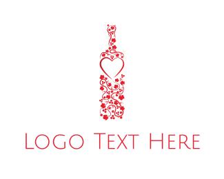 Cider - Flowers & Wine logo design