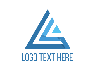 Aviation - Blue Abstract Triangle logo design