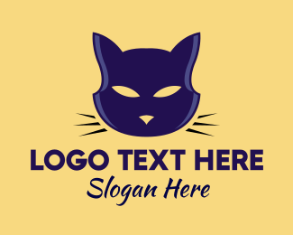 Cat Cafe - Bright Cat Eyes logo design