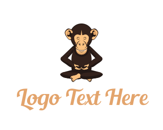 Buddhism - Chimp Monk logo design