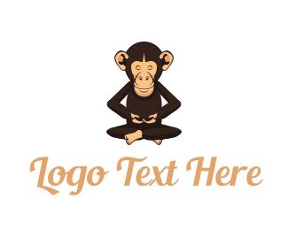 Ape - Chimp Monk logo design