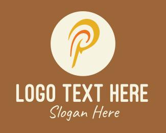 Letter - Polynesian Letter P logo design