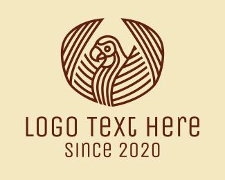 Flying - Tribal Flying Bird logo design