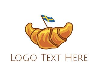 Croissant - Swedish Croissant logo design