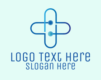 Circuit - Digital Circuit Cross logo design