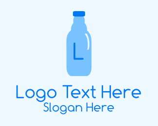 Wet - Water Bottle Lettermark logo design