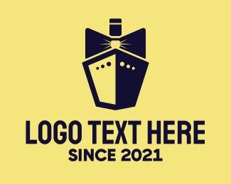 Marine - Bow Tie Ship Cruise logo design
