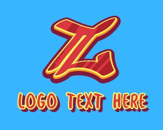 Graffiti - Graffiti Art Letter Z logo design