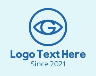 All Seeing Eye - Eye Vision Letter G logo design