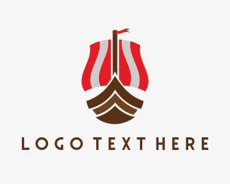Sweden - Viking Boat logo design