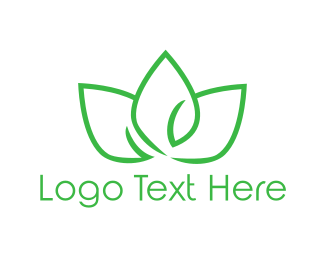 Petal - Green Lotus logo design