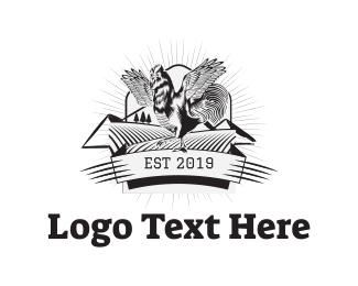 Barn - Vintage Rooster logo design