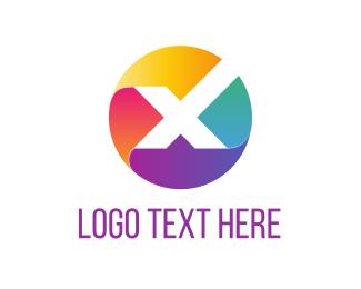 Letter X - X Circle logo design