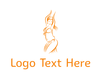 Ballerina - Belly Dancer logo design