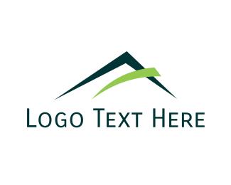 Volcano - Green Mountain logo design