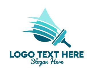 Hygiene - Clean Water Squeegee logo design