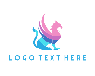 Winged - Pastel Griffin logo design