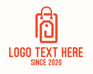 Hangtag - Orange Shopping Bag Tag logo design