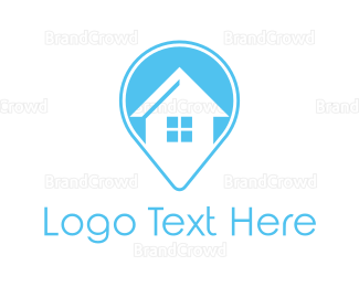 Interior Designer - Blue House Locator logo design