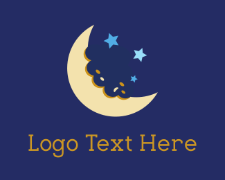Cookies - Moon Bite logo design