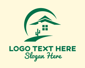 Desert - Green Desert Home logo design
