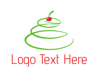 Green And Red - Cherry Tree logo design