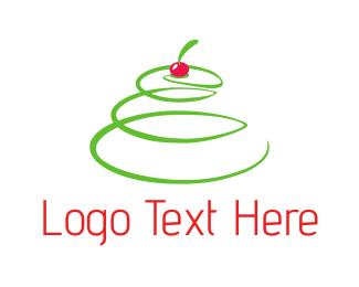 Crepe - Cherry Tree logo design
