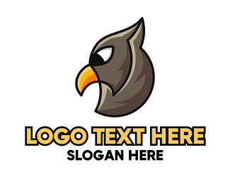 Scavenger - Eagle Head Outline logo design