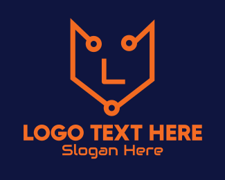 Fox - Tech Fox Lettermark logo design