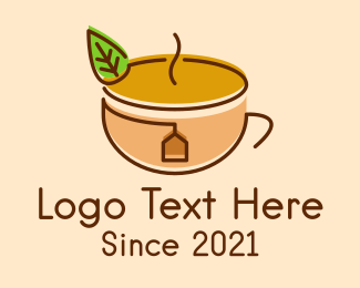 Relaxing - Organic Tea Cup logo design
