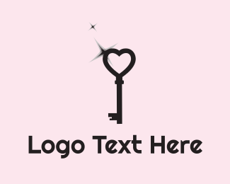 Key - Love Key logo design