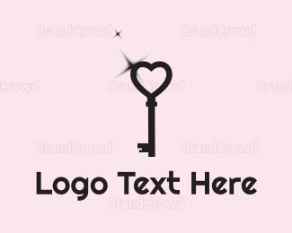 Key - Love Key logo design
