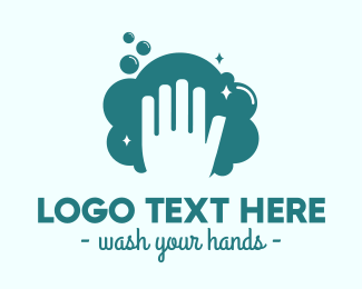 Hand Wash - Hand Wash Bubbles logo design