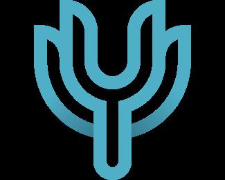 Lux - Elegant Blue Letter Y logo design