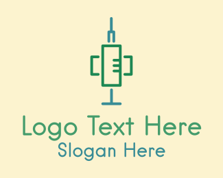 Tool - Medical Syringe Tool logo design