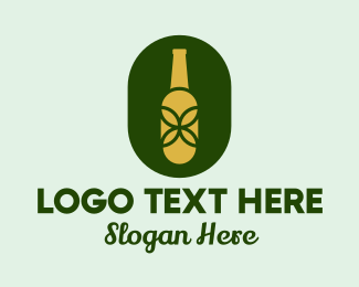 Beer Bottle - Organic Beer Bottle  logo design