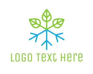 Ice - Snow Plant logo design