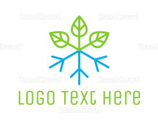 Ice - Snow Plant logo design