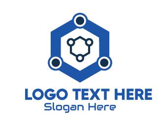 Technology - Blue Hexagon Technology logo design