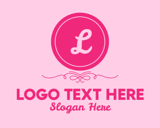 Beauty Spa - Cosmetic Pink Lettermark logo design