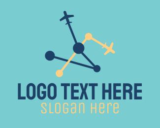 Destination - Plane Destination logo design
