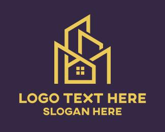 Real Estate House - Real Estate Home Building logo design