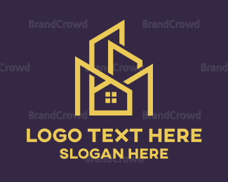 Decoration - Modern Blue Edgy Building logo design