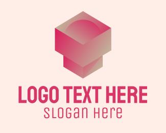 Beauty - 3D Geometric Pedestal  logo design