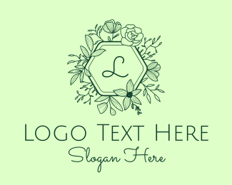 Events - Ornamental Flowers Lettermark logo design